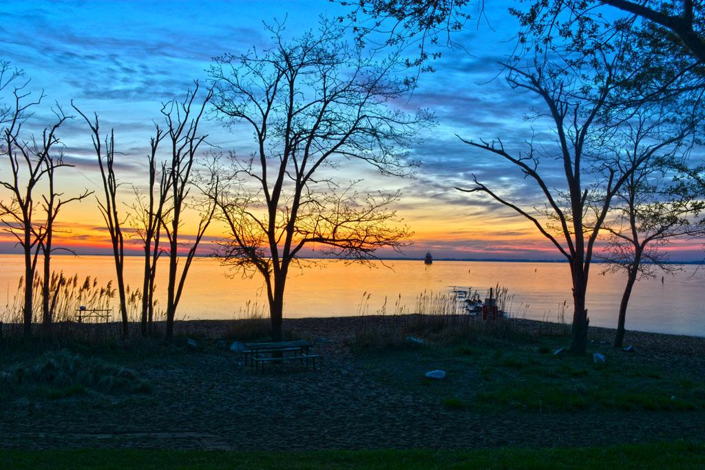 Sunrise at Sandy Point.